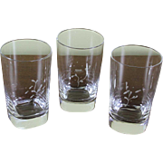Exquisite Tumblers or Scotch- Whisky Glasses, Set of 3