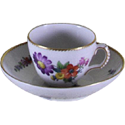 Collectors Coffee Cup & Saucer, Floral Motif by Royal Copenhagen