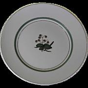 Collectors Vintage Cabinet Plate, Pale Green & Gold Decoration