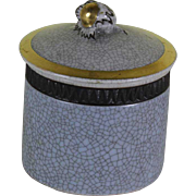 Round Box Grey, Brown & Gold , Craquelé