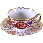 Collector's Tea Cup & Saucer Gilded Gadroon Edge