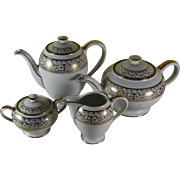 Charming Vintage Tea & Coffee Set, Golden Motif by Rosenthal