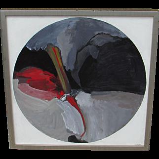 MARGARETTE LAWSON, Listed California Modernist, Earth Light, Mixed Media