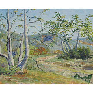 VIOLA PRATT STONE, Early California Impressionist Landscape, 1935 oil