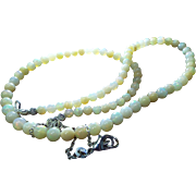 Ethiopian Welo Opal Necklace, Cream Color, 62 Cts