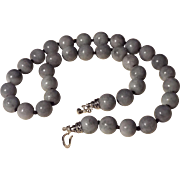 13 mm Natural Jadeite Beaded Necklace