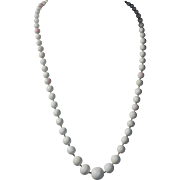 White Angel Skin Coral Graduated Necklace