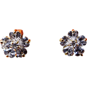 Vintage CZ Gold Filled Earrings