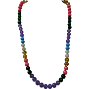 Simple Colorful Necklace 1 With Earrings