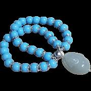 Happy Buddha stretch bracelet