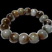 14 MM Jadeite Stretch Bracelet