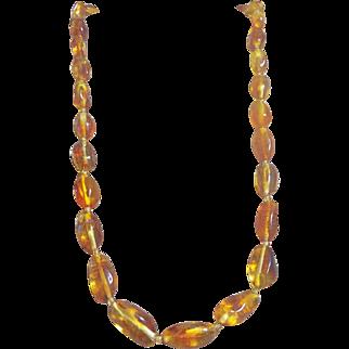 Vintage, Baltic Butterscotch Amber Necklace 23.20 Grams