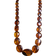 Very Old, Natural Egg Yolk Baltic Amber, 31.19 Grams Necklace
