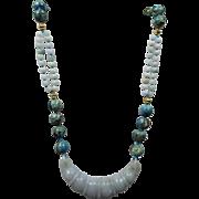 Larimar and Jadeite necklace