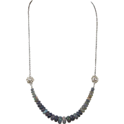 Rare, Natural Black Ethiopian Opals, Necklace, Matching Earrings