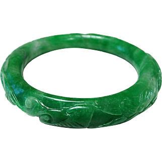 Medium Nephrite Jade, Carved, Green