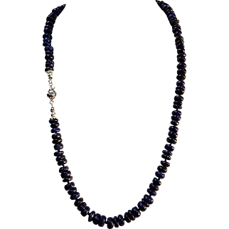 Natural, Lapis Lazuli Rondelle 520 cts, Necklace, Earrings