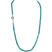 Sleeping Beauty, Turquoise Heishi Bead Necklace, With Earrings
