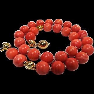 100% Natural Rose Color Momo Coral Necklace