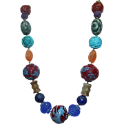 Colorful  Asian Necklace