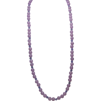 33 inch Lilac Alexandrite Necklace With Earrings