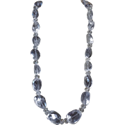 Rock Crystal Nugget Necklace, Earrings