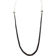 Black Ethiopian Welo Necklace 75Cts