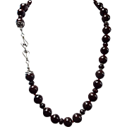 Natural Red Garnet Necklace Plus Earrings