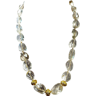 585 Cts, Natural Rock Crystal Necklace