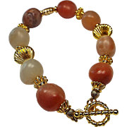 Tumbled Red Chalcedony Bracelet