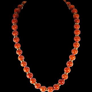 Natural 100% Natural, Red Mediterranean, Coral Necklace