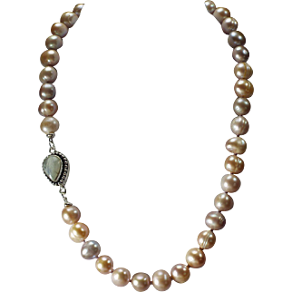 Lavender, Freshwater, Pearl Necklace