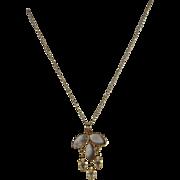 Antique, Art Nouveau, 14k, Fleur-De-Lis Necklace Set