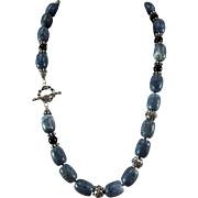 Blue Coral, Necklace With Earrings