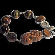 Tiger Eye Stone, Bracelet, Earrings