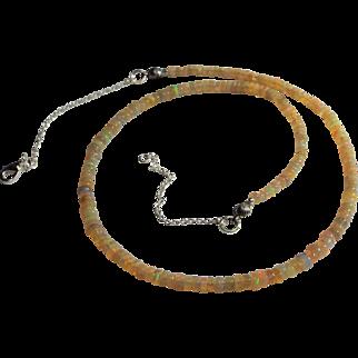 Welo Ethiopian Yellow Opal Necklace