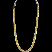 Ethiopian Yellow Welo Fire Opal Necklace
