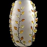 Swarovski Leaves Vase - Topaz