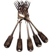 Shipwreck Salvaged Forks (5) from S.S. Indian as She was Wrecked and Sinking, 1859