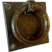 Substantial Georgian-style Well-patinated Brass Door Knocker in the form of a Ring