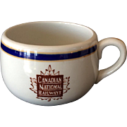 Canadian National Railways CNR cup with Maple Leaf logo