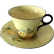 Shelley Regent Hand Painted Cup and Saucer