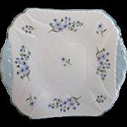 Shelley Dainty Blue Rock Cake Plate 13591