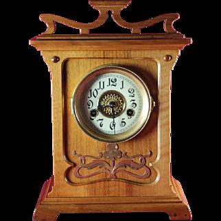 Secession Wooden Mantel Clock