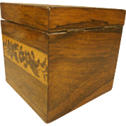 Antique Tunbridge Ware Tea Caddy Box