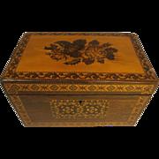 Antique Rosewood Tunbridge ware Tea Caddy Box , Caddie