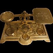 Antique Brass Desktop Postal Scales