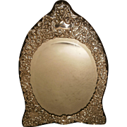Large Silver Framed Bevelled Dresser Mirror