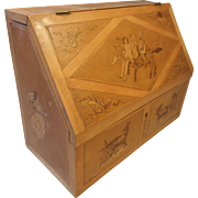 Sorrento Ware inlaid Desktop Letter Rack , Stationery Cabinet