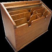 Oak Desktop Letter Rack , Stationery Box